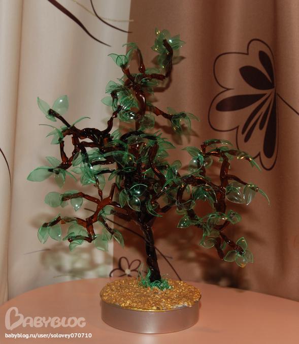 Пластиковое дерево своими руками 100