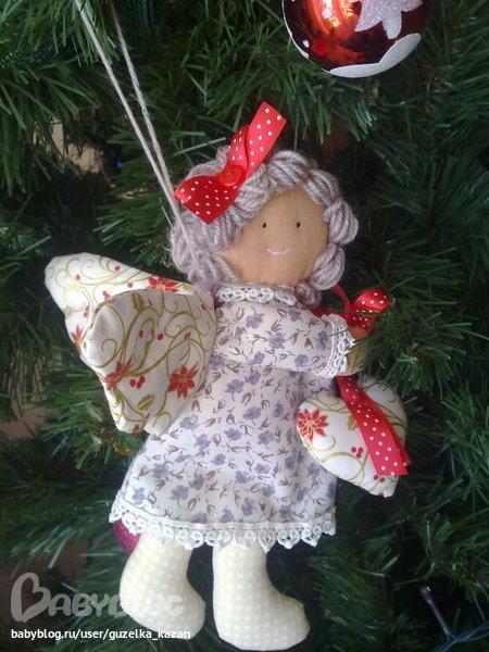 Ангел на елку своими руками из ткани