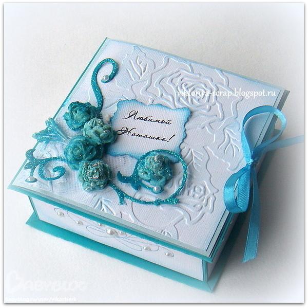 Скрапбукинг коробочка для открытки мастер класс