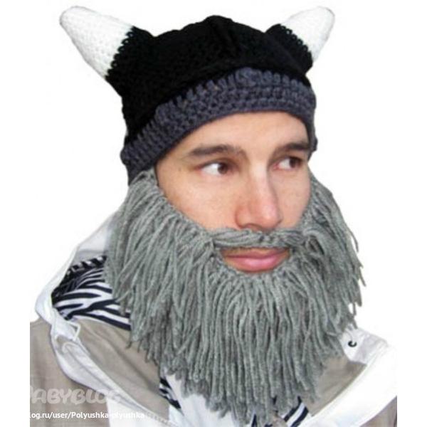 Шапка с бородой 7