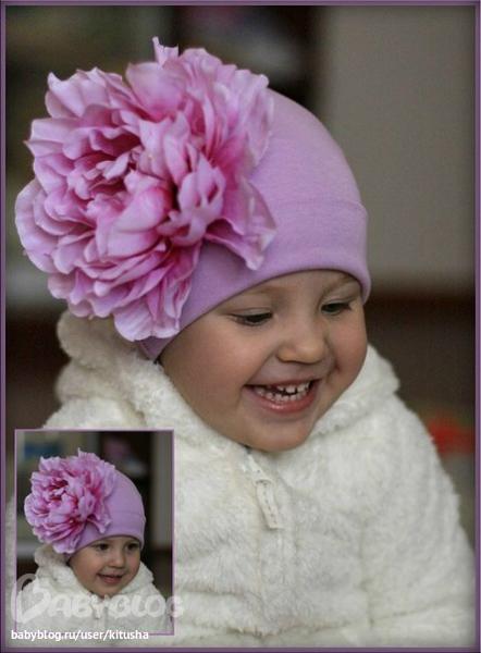 Цветы для детской шапочки своими руками