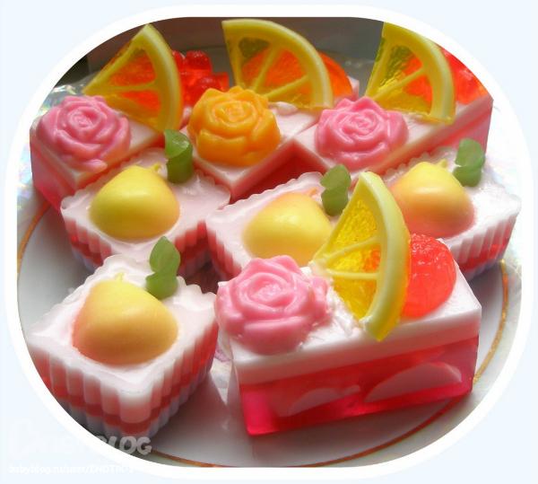 Мыло с кусочками фруктов своими руками