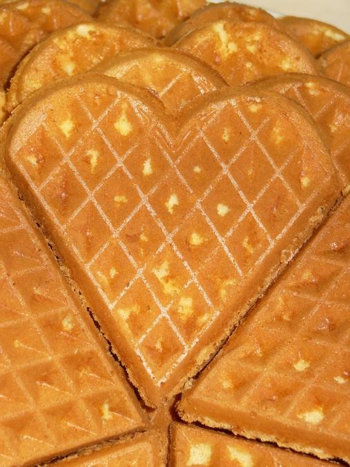 рецепт вафлей в форме сердечек