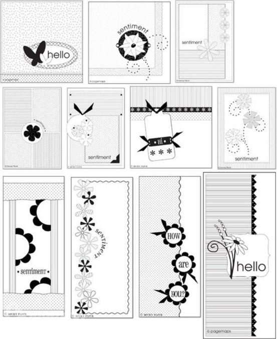 Скетчи для начинающих скрапбукинг открытка 7