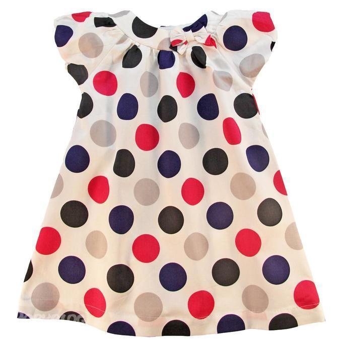 Сшить детское платье в горошек