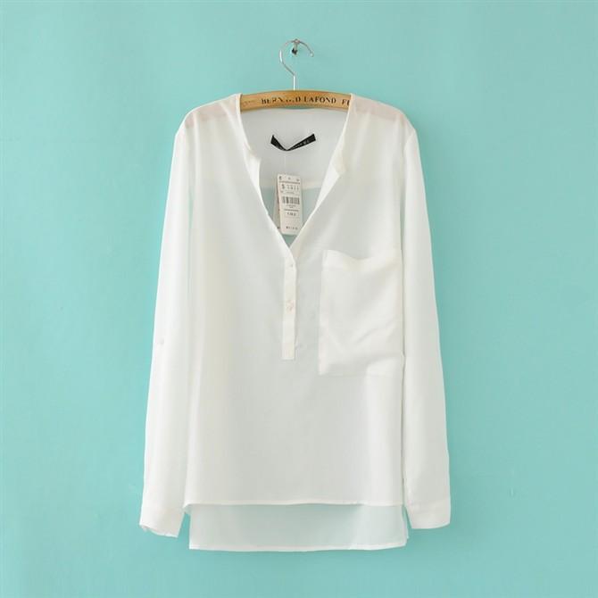 Шифоновая Блузка Белая