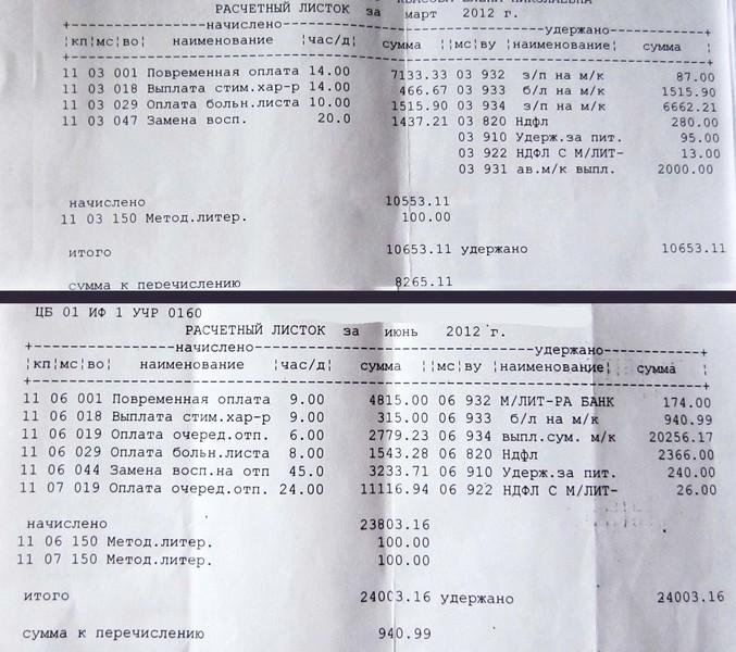 начисление больничного листа в 2013 году: