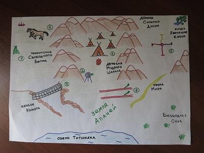 Карта индейцев