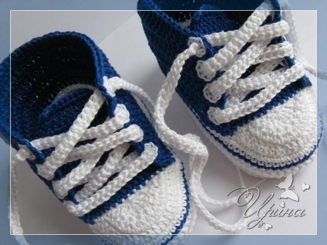 Вязание носков новорожденным 16