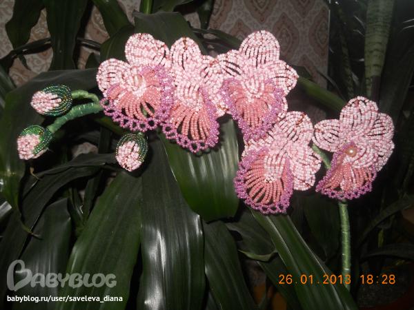 мой новый цветок из бсера