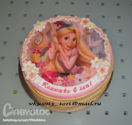 Торт с рапунцель безе - e8d48