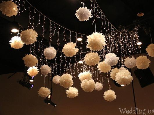 Декоративные шары для интерьера из бумаги