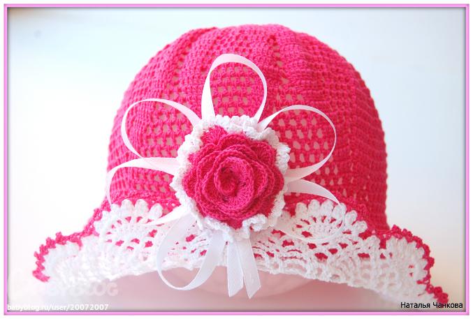 Вязание головные уборы для девочек 40