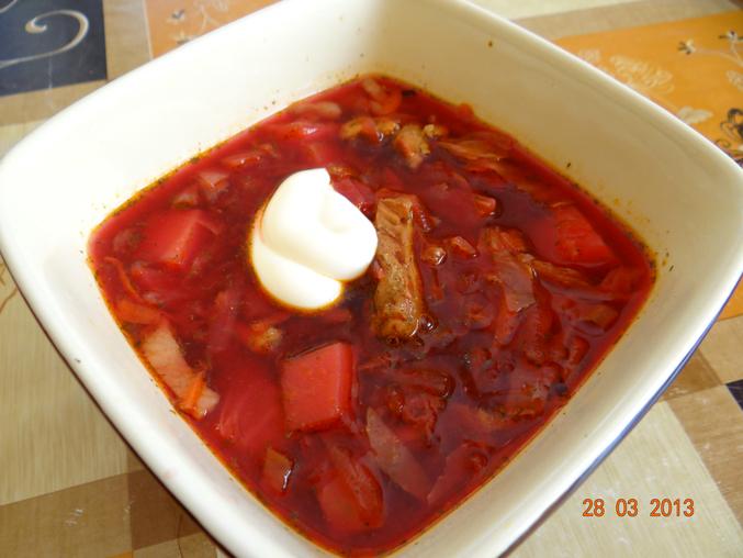 борщ со свининой рецепт пошаговый с фото