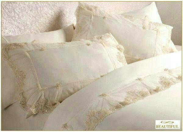 Как сшить постельное белье с кружевами 355