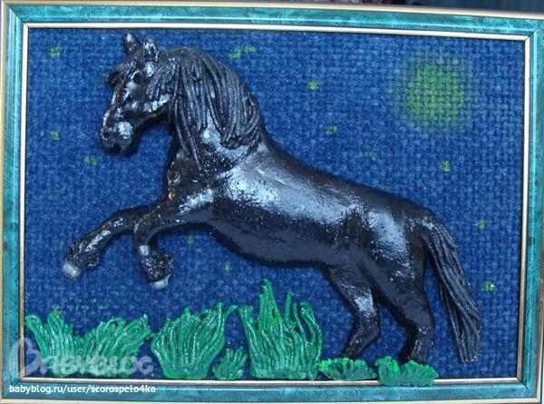 Поделка из соленого теста лошадь 99
