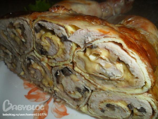 Курица фаршированная омлетом рецепт с фото