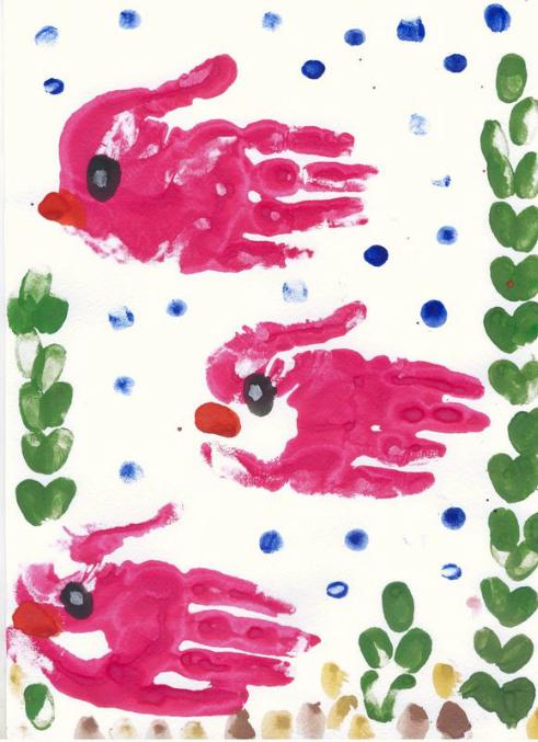 Рисунки из красок детские