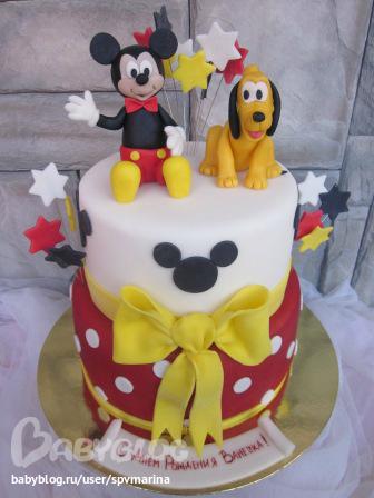 торт из мастики фото микки маус