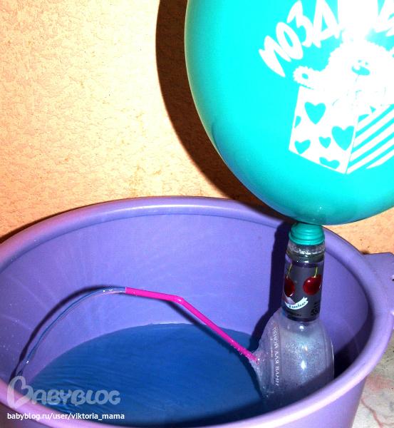 Физика фонтан из бутылки