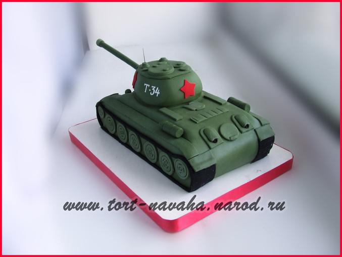 Как сделать танк для торта из мастики