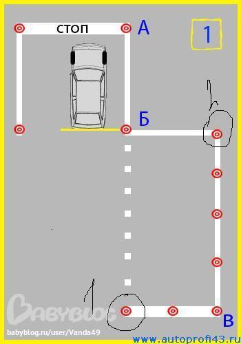 Как правильно на автодроме сделать упражнения
