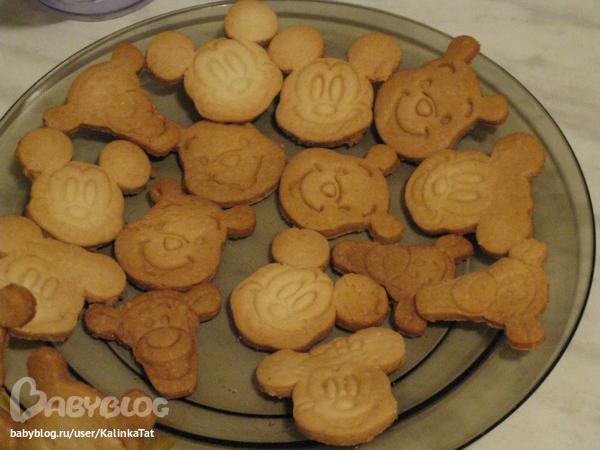 печенье в железных формочках рецепт