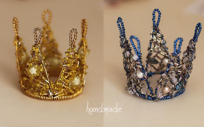 """Корона из бисера  """"Золото """" ."""