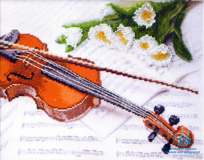 Скрипка бисером