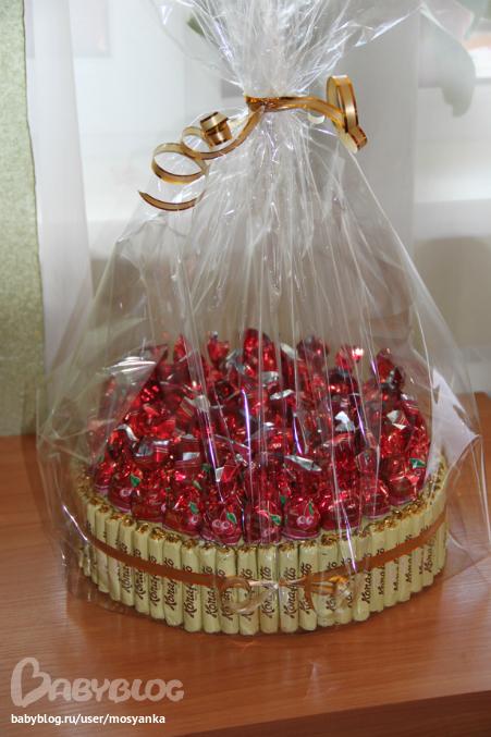 Идеи торт из конфет
