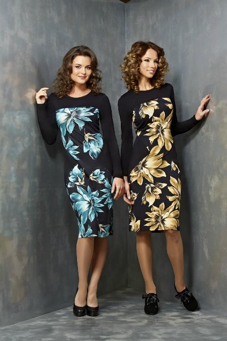 Платье Черное С Синими Цветами Доставка