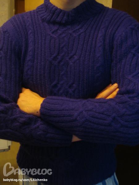 Схему к свитеру, кому