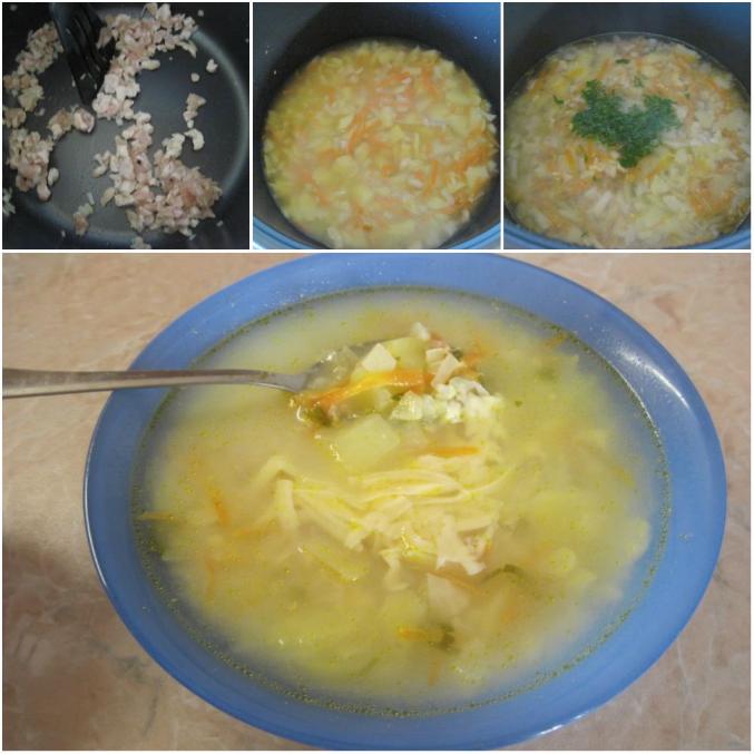 суп с курицей картошкой капустой
