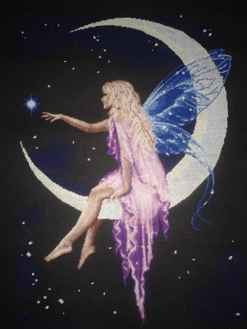 Вышивка фея луны схема