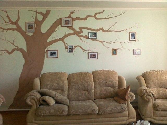 Дерево в интерьере фото своими руками