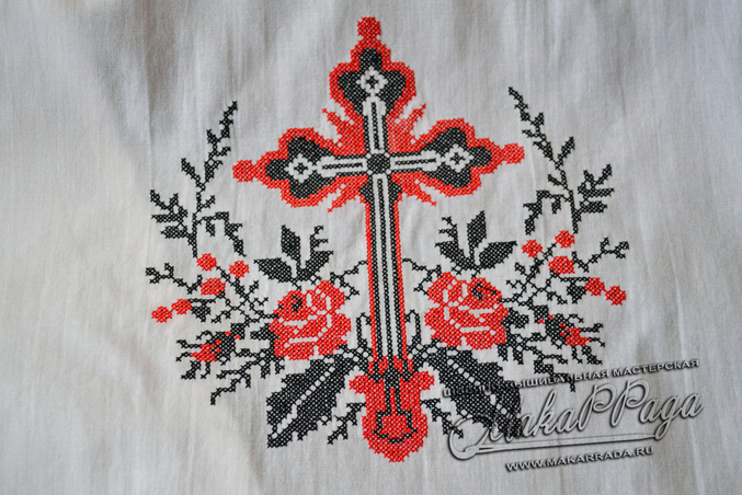Вышивка крестом рушников для иконы