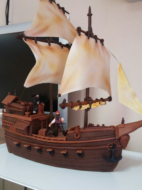 Торт в виде корабля своими руками фото