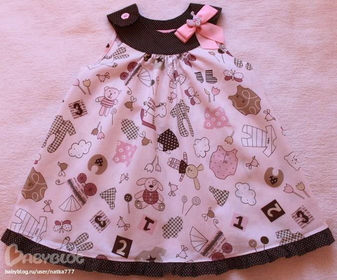 Летнее платье для девочки сшить 1 год