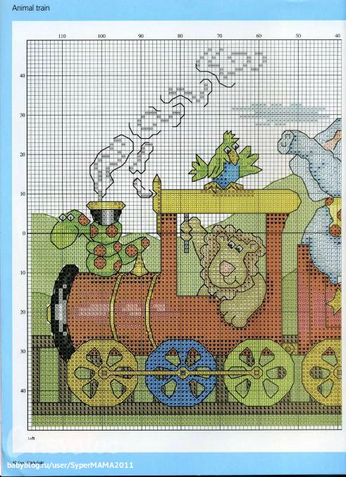 Схема из журнала... паровоз с