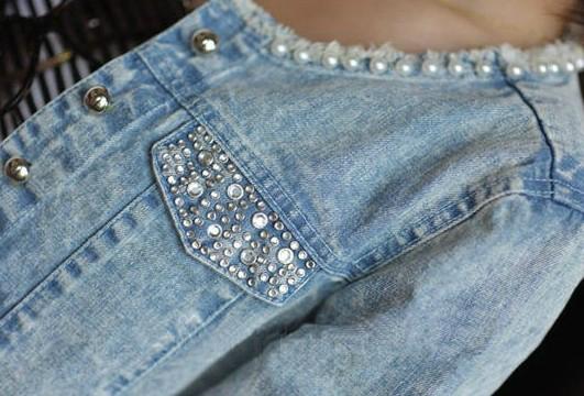 Как украсить джинсы своими руками фото