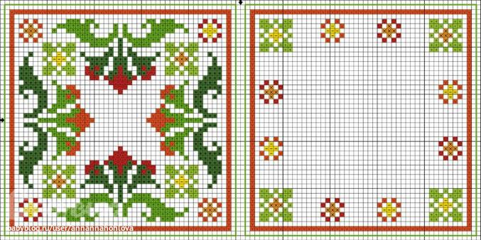 Схемы для вышивки крестом бискорню фото