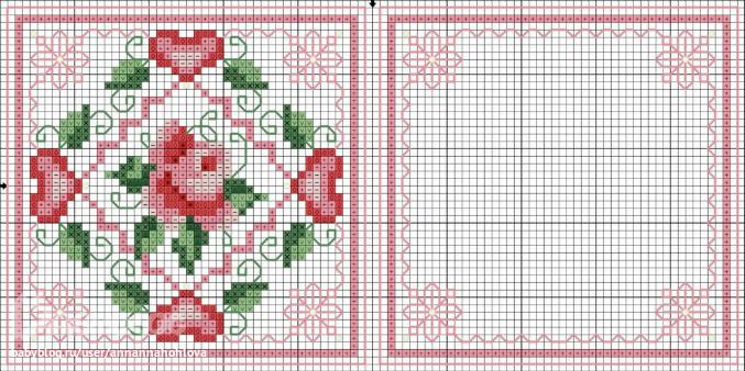 Схемы вышивки для бискорню с сердечками