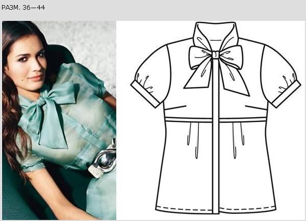 Выкройка Модной Летней Блузки