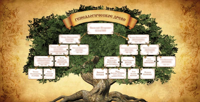Как нарисовать гинеалогическое дерево