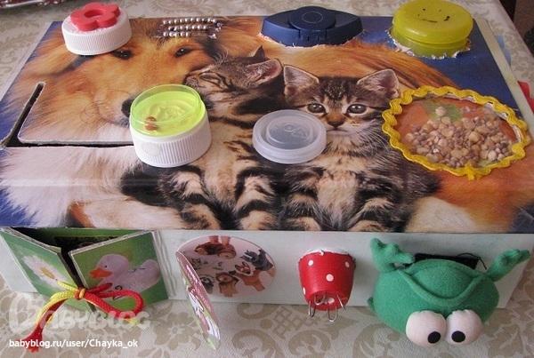 Развивающие игрушки своими руками для малышей до