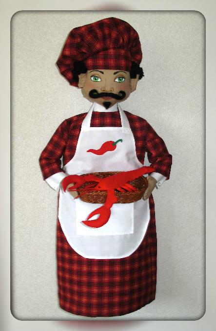 Кукла повар  выкройка 177