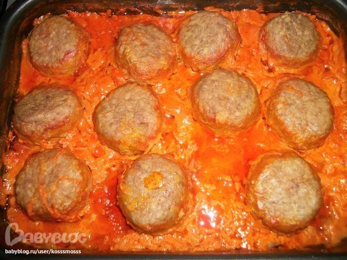 рецепт тефтелей в духовке в томатно сметанном соусе