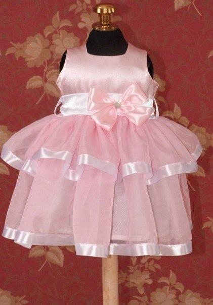 Как сшить пышное платье на годовалую девочку 94