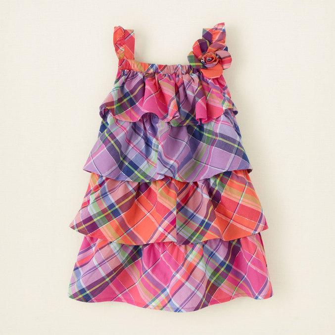 Платье в клетку для девочки 11