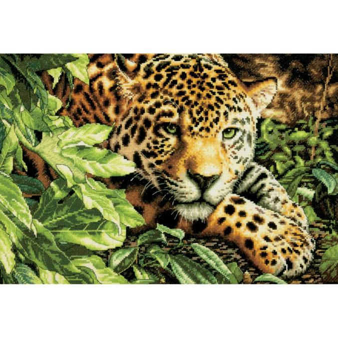 Леопард в ожидании 40 х 28 см,